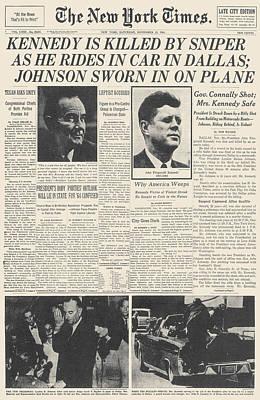 Photograph - John F Kennedy (1917-1963) by Granger