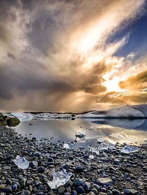 Photograph - Jokulsarlon Lagoon by Alexey Stiop