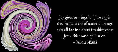 Joy Gives Us Wings Art Print