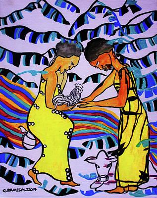 Kintu And Nambi A Ugandan Folktale Art Print by Gloria Ssali