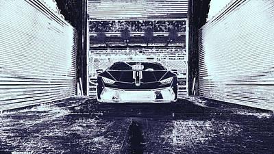 Digital Art - Lamborghini Huracan  by PixBreak Art