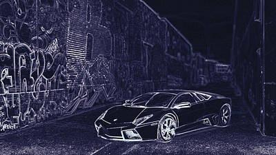 Digital Art - Lamborghini Reventon  by PixBreak Art