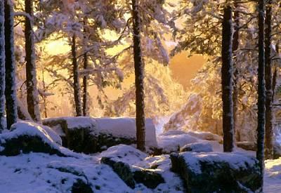 Luminous Digital Art - Landscape Wall by Malinda Spaulding