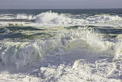 Photograph - Large Waves Near Pemaquid Point On The Coast Of Maine by Keith Webber Jr