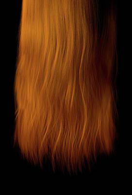 Brunette Digital Art - Length Of Hair by Allan Swart