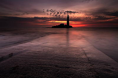 Sunset Digital Art - Lighthouse by Maye Loeser