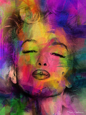 Famous Women Painting - Marilyn Monroe by Mark Ashkenazi