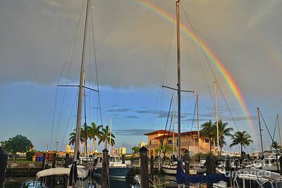 Photograph - 10- Marina Rainbow by Joseph Keane