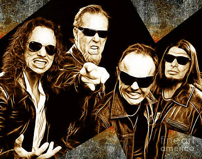 Heavy Metal Mixed Media - Metallica Collection by Marvin Blaine
