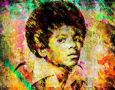 Michael Jackson Mixed Media - Michael Jackson by Svelby Art
