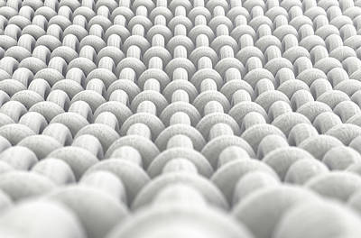 Macro Digital Art - Micro Fabric Weave by Allan Swart