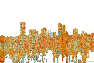 Digital Art - Milwaukee Wisconsin Skyline by Marlene Watson