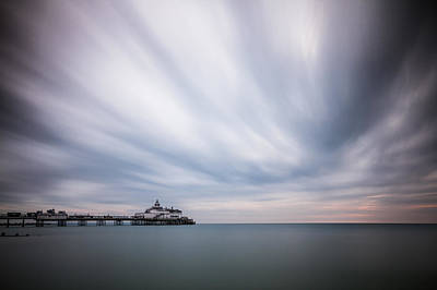 Photograph - 10 Minute Exposure Of Eastbourne Pier by Will Gudgeon