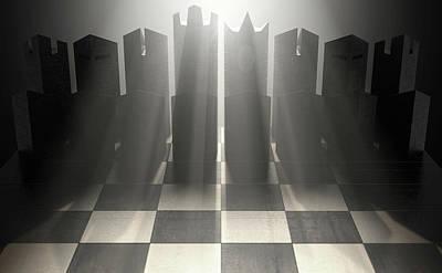 Modern Chess Set  Art Print