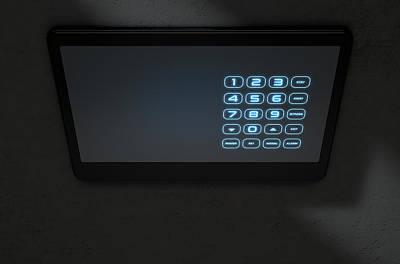 Modern Interactive Home Security Art Print