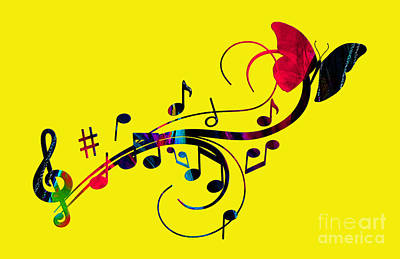 Music Flows Collection Art Print by Marvin Blaine