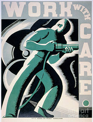 New Deal: Wpa Poster Art Print by Granger
