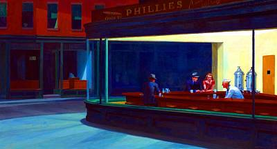 Photograph - Nighthawks by Edward Hopper Test