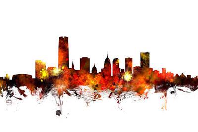 Oklahoma City Digital Art - Oklahoma City Skyline by Michael Tompsett
