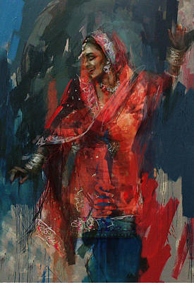 Exhibition Painting - 10 Pakistan Folk Punjab B by Maryam Mughal