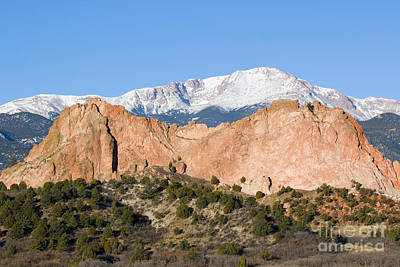 Steve Krull Royalty-Free and Rights-Managed Images - Pikes Peak by Steve Krull
