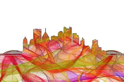 Digital Art - Pittsburgh Pennsylvania Skyline by Marlene Watson