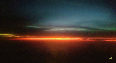 Photograph - 10 Pm Sunset At 37000 Feet by CHAZ Daugherty