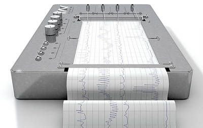 Polygraph Lie Detector Machine Art Print