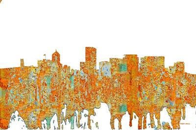 Digital Art - Portland Oregon Skyline by Marlene Watson