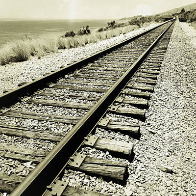 Train Photograph - Railway Tracks  by Les Cunliffe