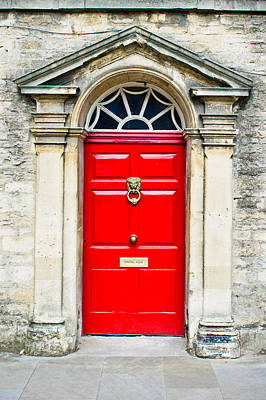 Address Photograph - Red Door by Tom Gowanlock