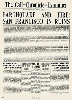San Francisco: Earthquake Print by Granger