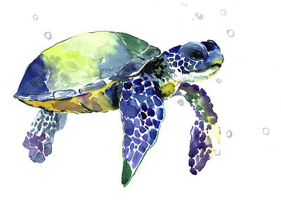 Painting - Sea Turtle by Suren Nersisyan