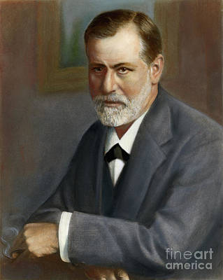 Drawing - Sigmund Freud, 1856-1939 by Granger