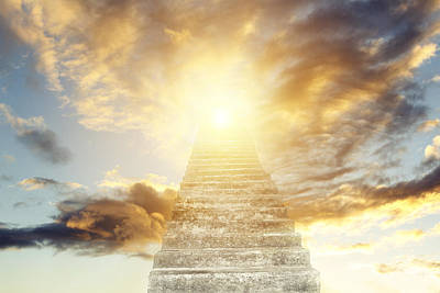 Stairway To Heaven Art Print by Les Cunliffe