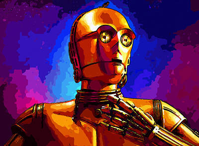 R2-d2 Digital Art - Star Wars by Elena Kosvincheva