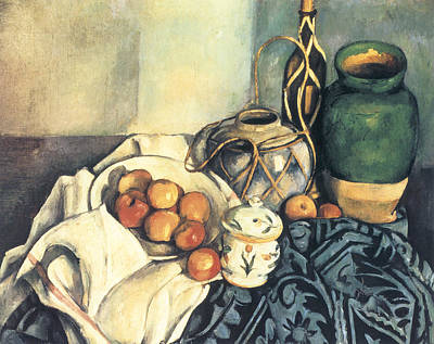 Old Pitcher Painting - Still Life With Apples by Paul Cezanne