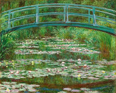 Maritime Painting - The Japanese Footbridge by Claude Monet