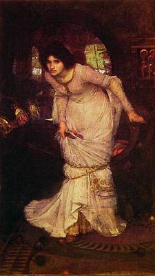 19th-century Painting - The Lady Of Shalott by John William Waterhouse