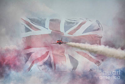 Flying Hawks Digital Art - The Red Arrows by Nigel Bangert