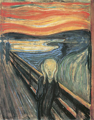Man In Black Painting - The Scream by Edvard Munch
