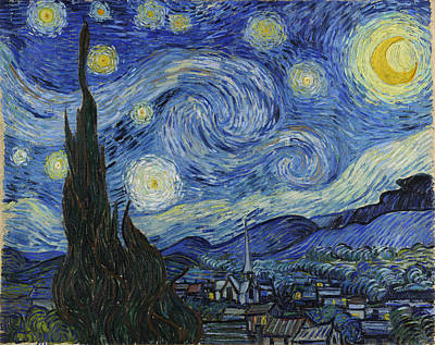 Painting - The Starry Night by Vincent Van Gogh