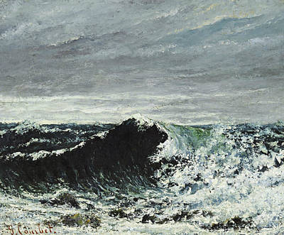 Painting - The Wave by Gustave Courbet
