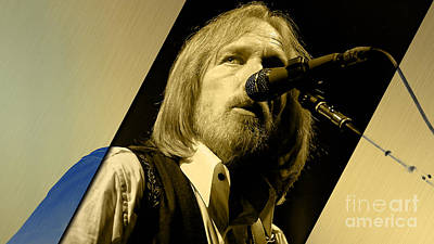 Poster Mixed Media - Tom Petty Collection by Marvin Blaine