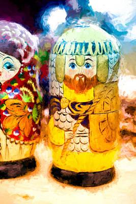Photograph - Yellow Father Russian Matryoshka Doll by John Williams