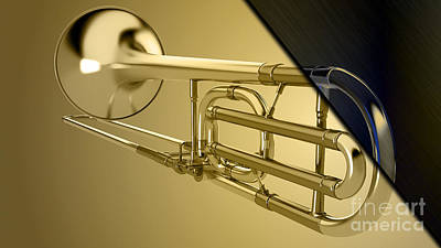 Trombone Collection Print by Marvin Blaine