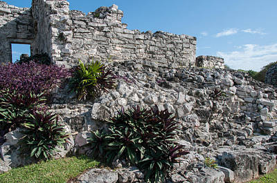 Digital Art - Tulum Ruins by Carol Ailles