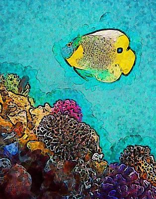 Underwater Photograph - Underwater.fish. by Elena Kosvincheva