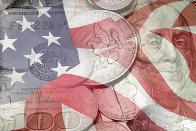 Coins Digital Art - Usa Finance by Les Cunliffe
