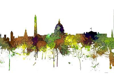Digital Art - Washington Dc Skyline by Marlene Watson